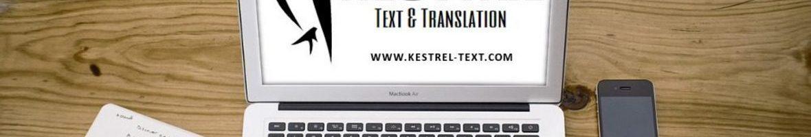 Kestrel Text & Translation header